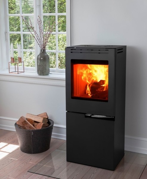 Cubic Wood Burning Stove With Pellet Function Aduro H5