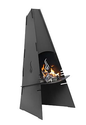 Aduro Fireplace, black